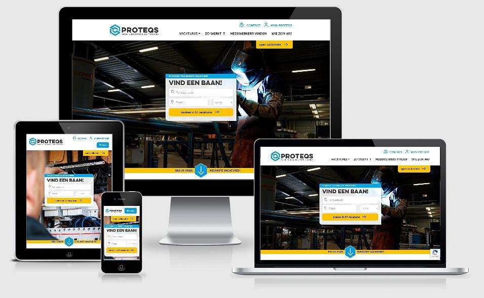 Proteqs   Website uitzendorganisatie