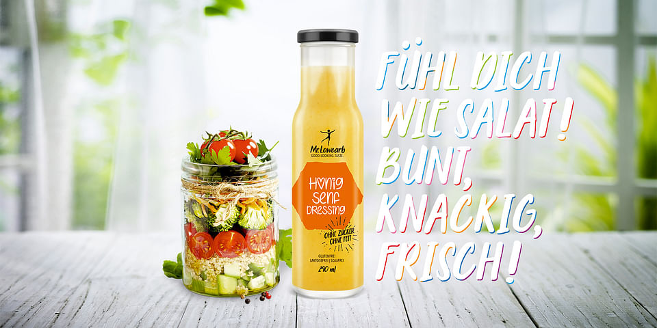 Launchkampagne für eine neue Salatdressing Marke