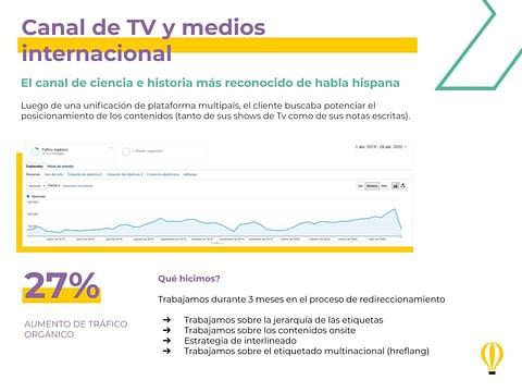 Canal de TV y medios internacional