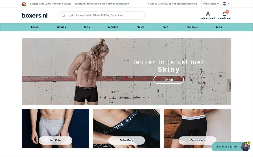 Magento 2 webshop: Boxers.nl