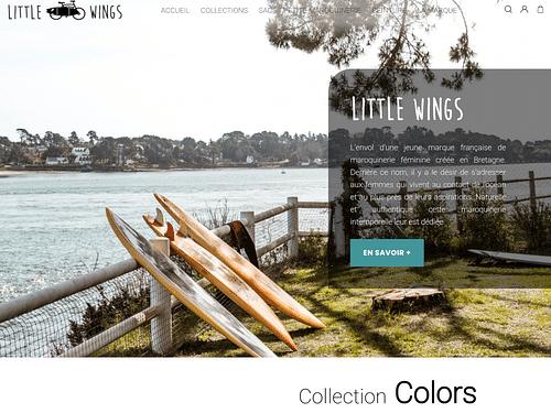 Site e-commerce sur-mesure Little Wings - Website Creation