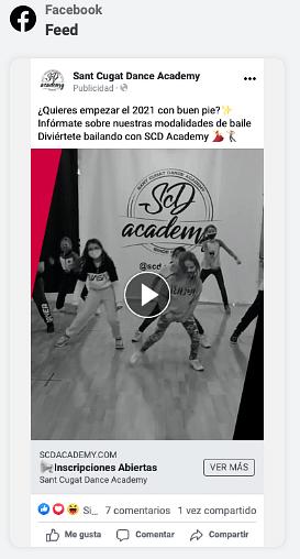 Estrategia Social Ads Academia de Baile - Publicidad