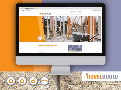 Ontwikkeling logo, huisstijl en website Novelbouw - Website Creatie