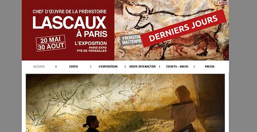 Site de l'exposition Lascaux - Création de site internet