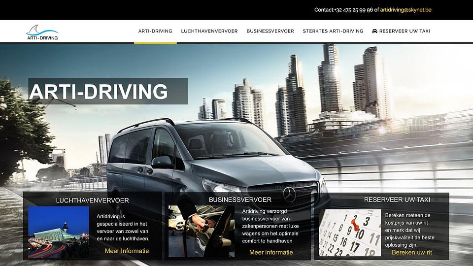 Website design voor Taxi bedrijf