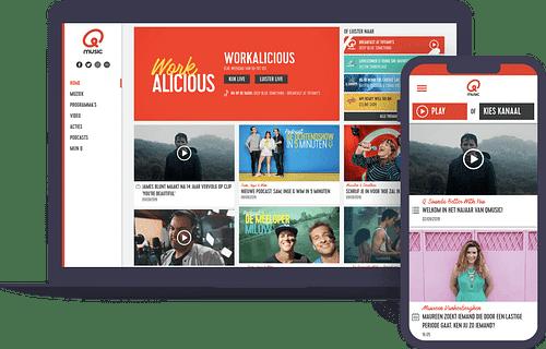Rebranding  Qmusic België en Nederland - Website Creatie