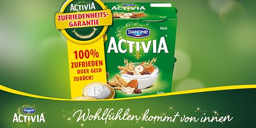 Danone Activia Zufriedenheitsgarantie - Werbung