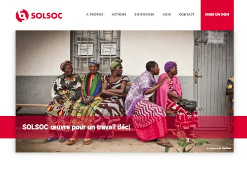 SOLSOC.be - Site web   Communication   Design - Création de site internet