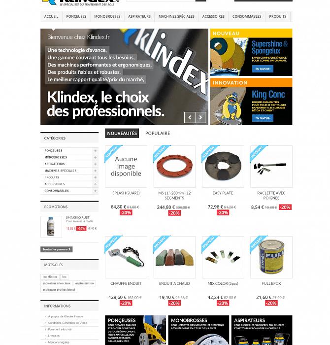 Site e-commerce Klindex.fr