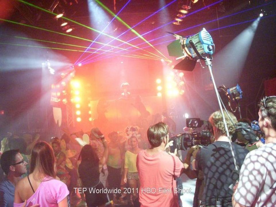 HBO Network Film shoot Extreme Laser Lighting TEPW