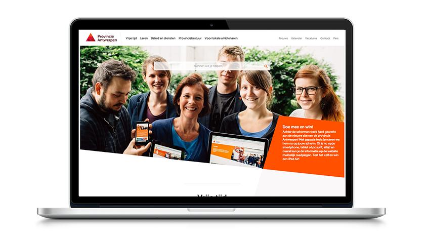 provincieantwerpen.be and subsites - Ergonomie (UX / UI)