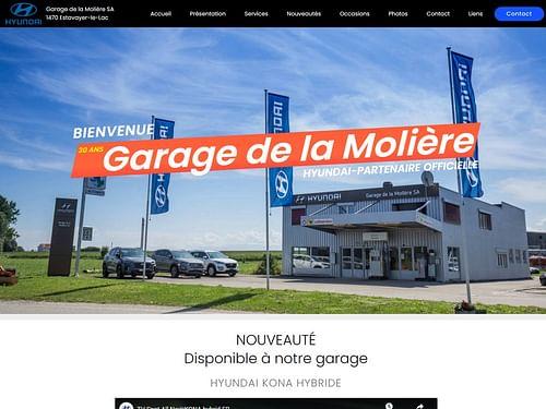 Garage de la Molière - Concessionnaire Hyundai - Création de site internet