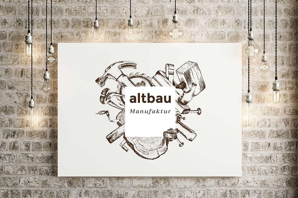 """Branding und Website """"altbau Manufaktur"""""""