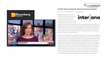 Interana Ushers in Self-Service Big Data: Allowing - Public Relations (PR)