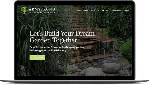 Website redesign for Armstrong Gardeners