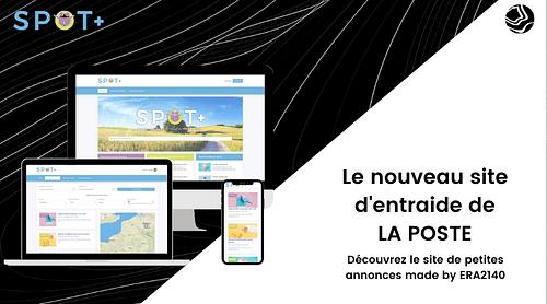 SPOT+ pour le groupe La Poste - Création de site internet