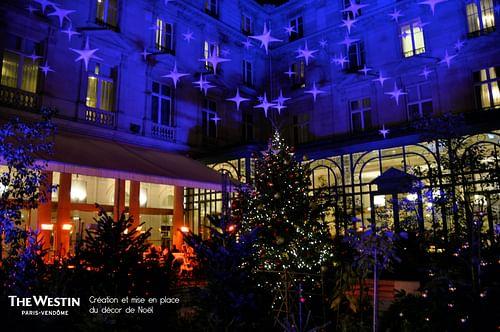 WESTIN HOTEL // création du décor de Noël - Evénementiel