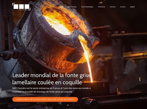 NDC Foundry - Sitre vitrine   Industrie. - Création de site internet