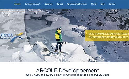 Création du site internet Arcole Développement - Création de site internet