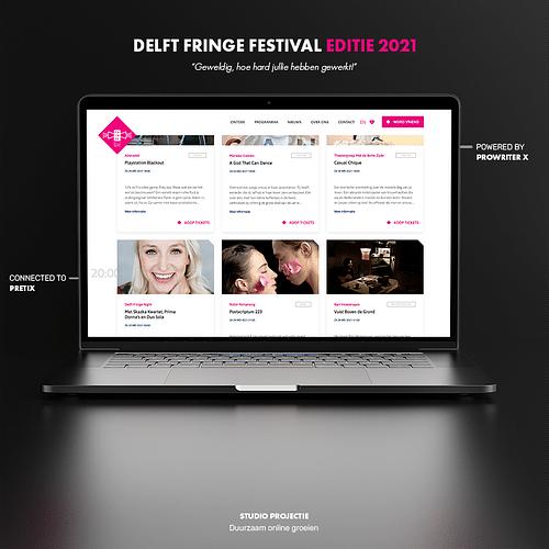 Webdesign & ticket shop Delft Fringe Festival - Website Creatie