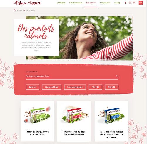 Site de marque - Le pain des fleurs - Création de site internet