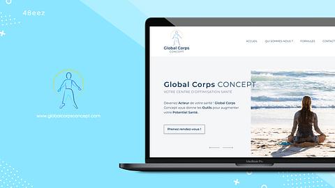 Création site réservation Global Corps Concept
