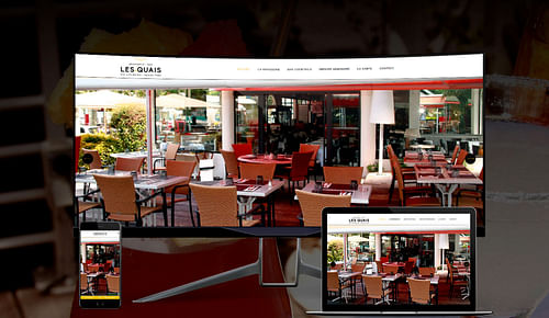 Site vitrine brasserie Les Quais Aix Les Bains - Création de site internet