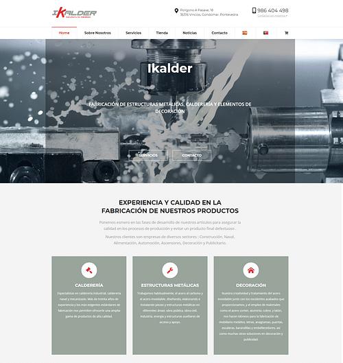 Desarrollo tienda online  Ikalder - E-commerce