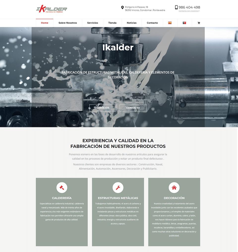 Desarrollo tienda online  Ikalder