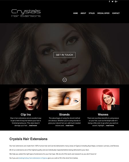 New Website for Crystalshairextensions.com - Website Creation