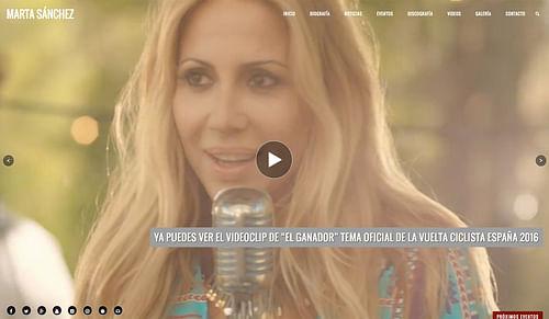 Marta Sánchez (Sitio Oficial) - Creación de Sitios Web
