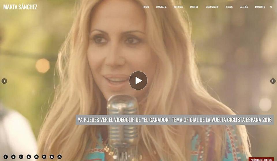 Marta Sánchez (Sitio Oficial)