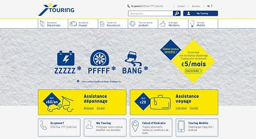 Nouveau site Web pour Touring - Création de site internet