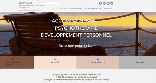 Création d'un site complet pour un psy - Création de site internet