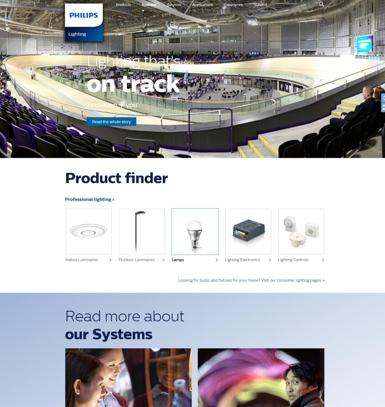 Digital Strategy & UX design - Philips Lighting
