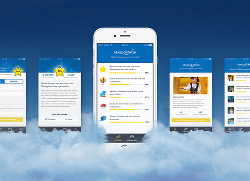 MAKE-A-WISH / Redefining  charity funding - Mobile App