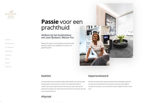 Website voor Maison Pur - Website Creatie