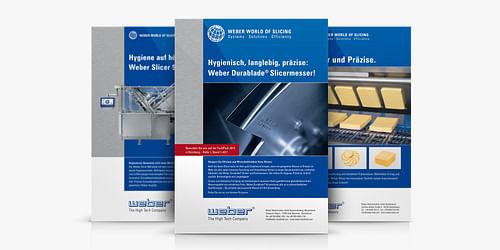 Produktwerbung WEBER Maschinenbau - Markenbildung & Positionierung
