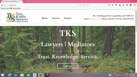 Website for a legal service firm