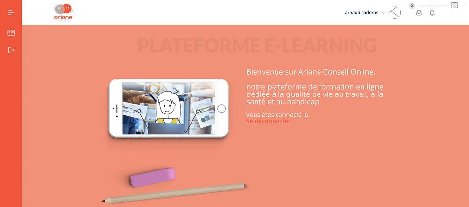 Ariane Conseil - Plateforme LMS - elearning