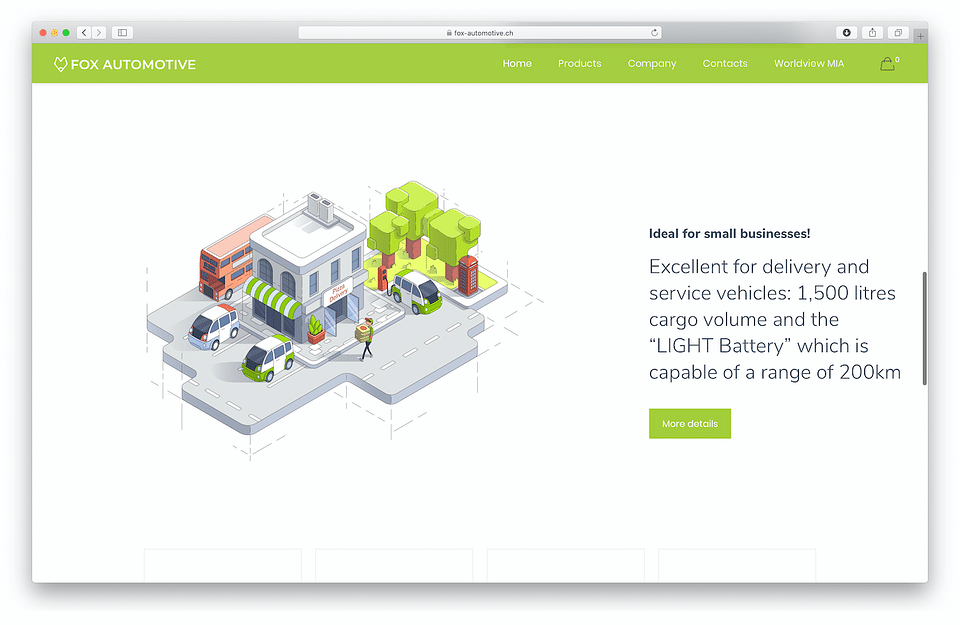 Electric Car Producer Website