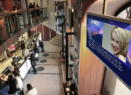News-Content für Digital Signage-Screens bei Mc...