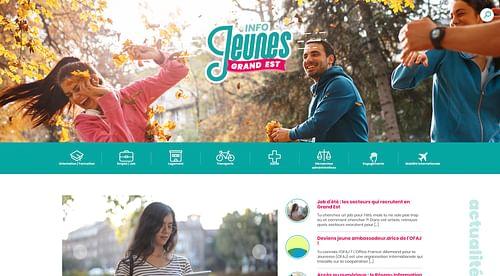 Info-jeunes en région Grand-Est (CRIJ) - Création de site internet