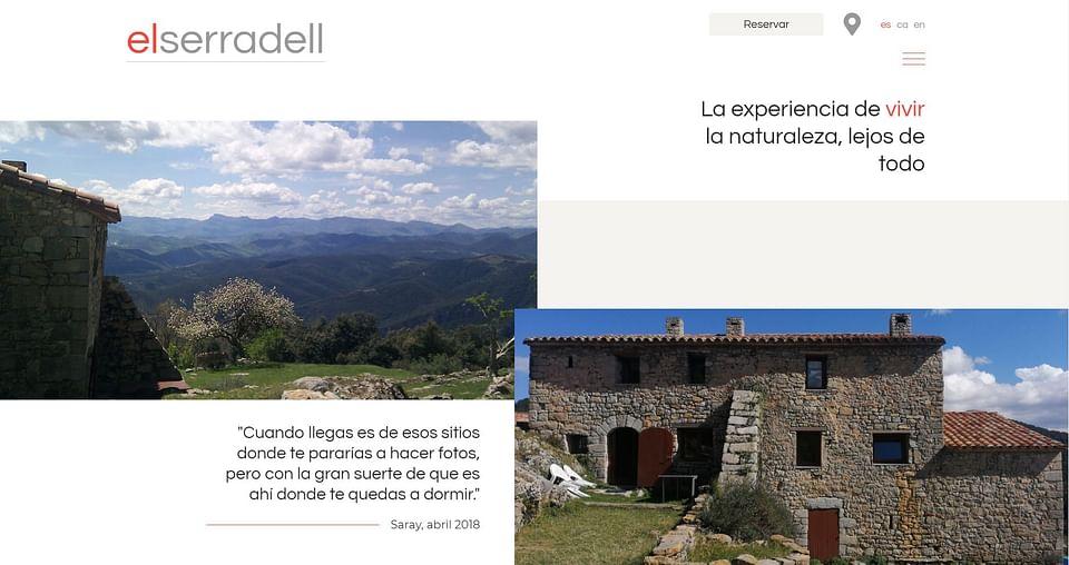 El Serradell . Creación Web, Reservas y Branding