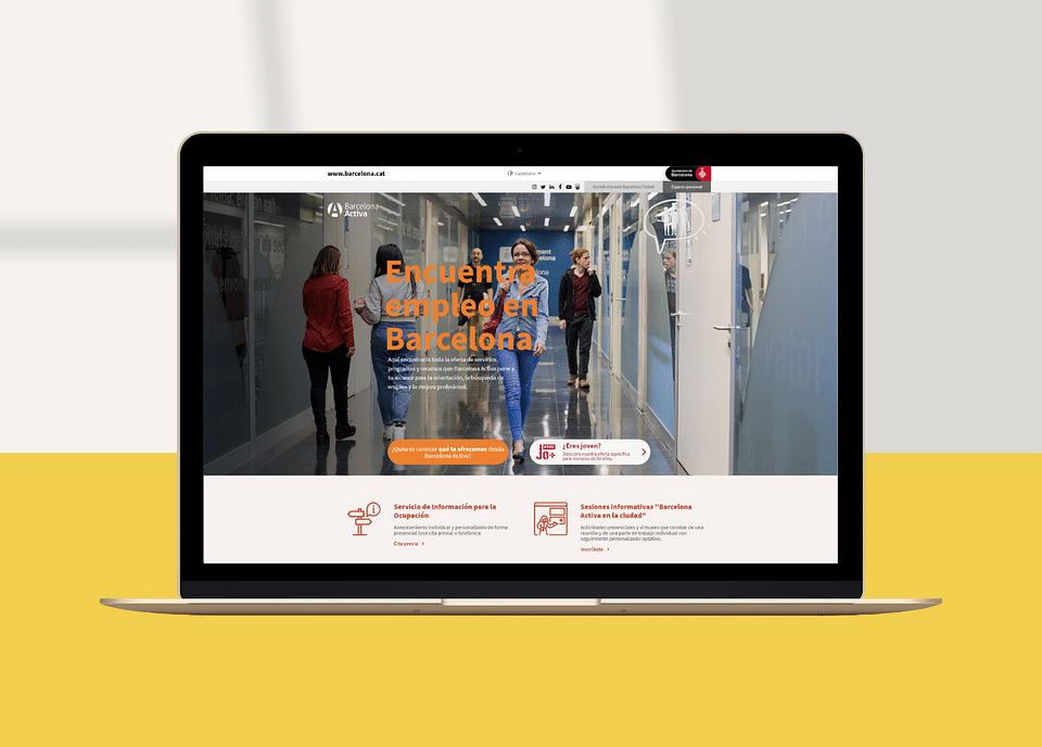 Creación de Landing Page: Barcelona Activa