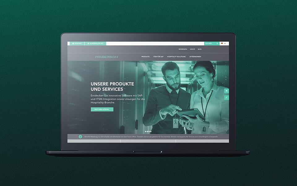 Realtech – Corporate Website für die ITSM-Experten