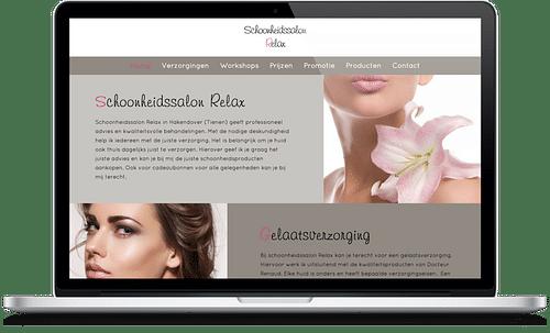 Schoonheidssalon Relax - Website Creatie