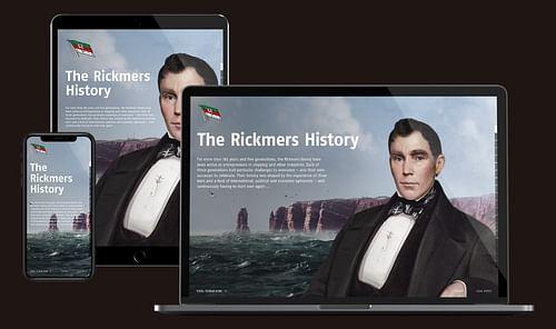 Corporate Timeline-Website Reederei Rickmers - Markenbildung & Positionierung