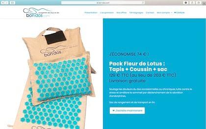 Site E-commerce articles d'acupression - E-commerce