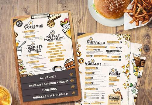 PIXIES BURGER : Création de l'identité visuelle - Image de marque & branding